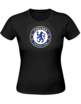 Dámske tričko Chelsea Londýn - čierne