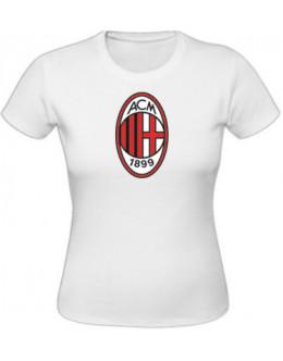 Dámske tričko AC Miláno - biele