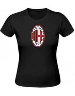 Dámske tričko AC Miláno - čierne