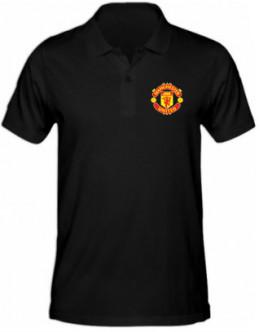 Polokošeľa Manchester United - čierna