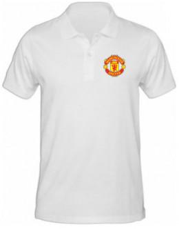 Polokošeľa Manchester United - biela
